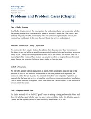 Homework Problems and Problem Cases (Chapter 9)