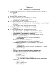 Chapter 4 The Terrestrial Environment