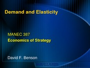 4 - Demand and Elasticity - Benson (1)