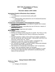 SOCY 202 Exam 2 Review