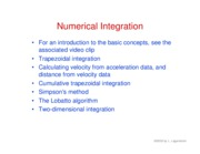 38. Numerical integration
