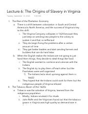 Lecture 6 The Origins of Slavery in Virginia.pdf