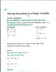 solving equations in a single variable pg 1