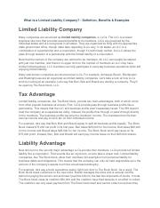 What Is Limited liability company