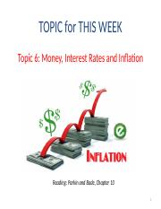 Topic 6 - Money Interest rates and Inflation(DB version) (1).pptx
