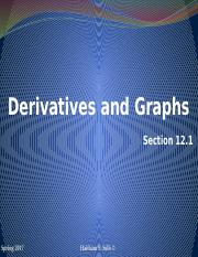 Derivatives and Graphs Section 12.1