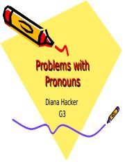 Week 7-8 Grammatical Sentences Problems with Pronouns.ppt