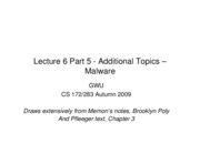 CS283 - Lecture 6 - Part 5 - Additional Topics - Malware