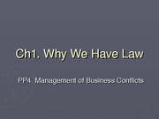 Ch1 PP4 Managing Business Conflicts (Ferrett) (1.28.08)