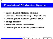 Translational Mechanical System old