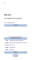 Bon Jovi - Wikipedia, the free encyclopedia