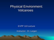 Physical Environment - Volcanoes