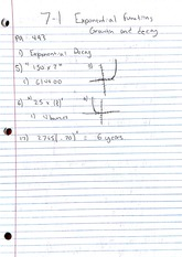 Homework, Exponential Functions - Growth & Decay