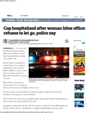 Cop hospitalized after woman bites officer, and refuses to let go, police say _ NJ