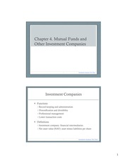 11. Chapter 4. Mutual Funds and Other Investment Companies