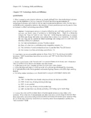 Answers to Web Chapter 11 Questions and Problems