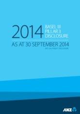 ANZ's September 2014 Pillar 3 disclosure