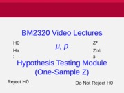 0_Introduction Z Hyp Test [mu and p]
