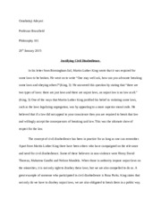 philosophy 101 writing assignment 3