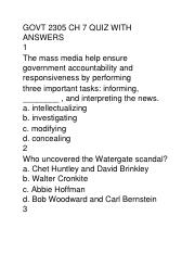GOVT 2305 CH 7 QUIZ WITH ANSWERS.docx