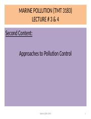 LECTURE #3 & 4 - MARINE POLLUTION (TMT 3183)- MAC 2015