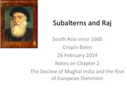 Subalterns and Raj Part 3