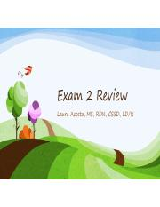 ND Exam 2 Review Fall 2016