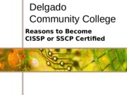 CMIN-244 Chapter 01b - Reasons to become a CISSP and SSCP