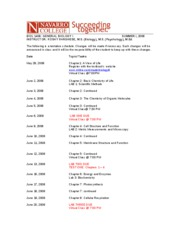 Course Outline - Summer I 2008