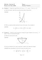 Exam 2 Solution Spring 2006 on Calculus II