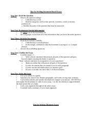 Copy of Tips for Writing DBQ and Thematic Essays.doc