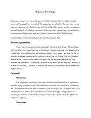 Detailed description essay
