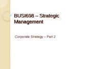 Corporate Strategy (2)