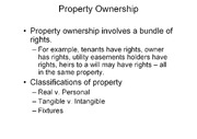 Land Use Control and Real Property notes
