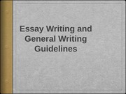 Writing Guidelines 2014-15