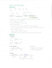 Notes on Amines and Heterocyles