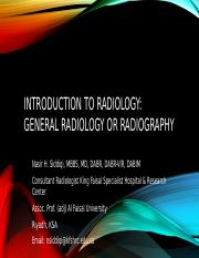 02. Introduction To Radiology And General RadiograpghyII.pptx