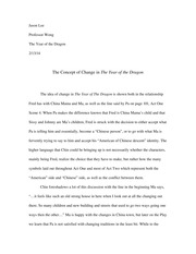 "Essay on ""The Year of The Dragon"""