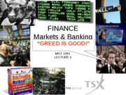 Lecture 5  Finance Part I  Money  Markets