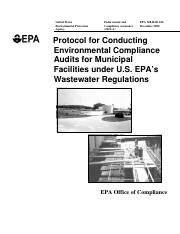 Protocal ENVM Audits - Wastewater Regs