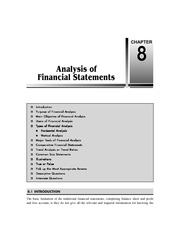 Chapter 8   Analysis of Financial Statements
