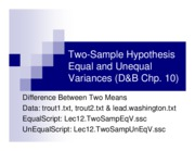 12 Two Sample Hypothesis