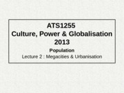 Culture Power and Globalisation Mass Urbanisation.pptx