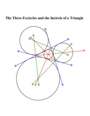 Excircles and Incircle COLOR