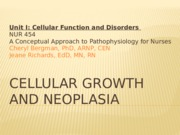 Cellular Growth and neoplasia SC(1)