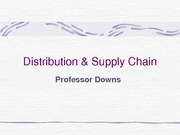 Distribution & supply chain