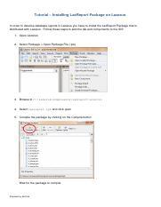 Tutorial+Installing+LazReport+Package+on+Lazarus pdf