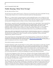 Public Housing_ What Went Wrong_, by John Atlas and Peter Dreier.htm
