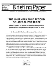 EPI - THE UNREMARKABLE RECORD OF LIBERALIZED TRADE