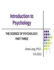Chapter 1- The Science of Psych-Part 3